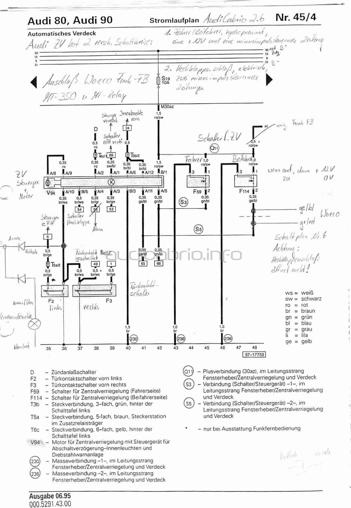 elektrisches verdeck waeco funk zv waeco mt relais relay. Black Bedroom Furniture Sets. Home Design Ideas